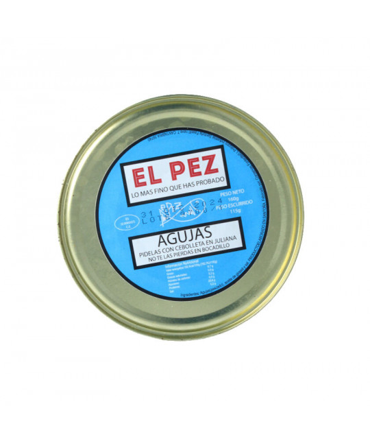 Televermu El Pez Agujas 150g Relanzón Conserva Aceite de Oliva AOVE aperitivo Bocadillo Regalo Castizo Taberna